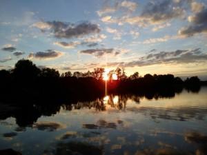 Zachód słońca nad jeziorem Kochle - Pensjonat Roma