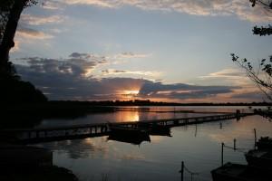 Zachód słońca nad jeziorem Duży Szarcz - Pensjonat Roma