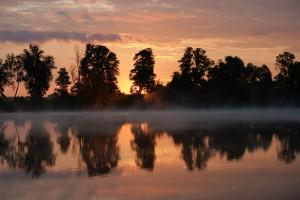 Wschód słońca nad jeziorem Kochle - Pensjonat Roma